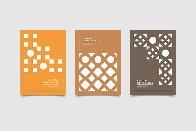 Установить минималистичный дизайн обложки шаблона