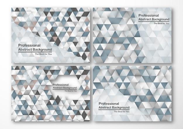 Set of template design for business presentation