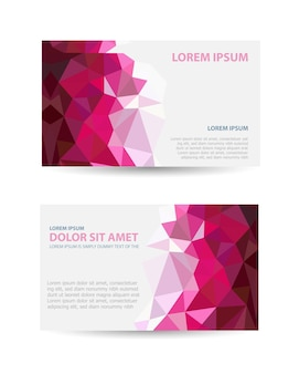 Set template invitations, business cards, flyers on an abstract theme. suitable for real estate agencies and construction and tourism companies.