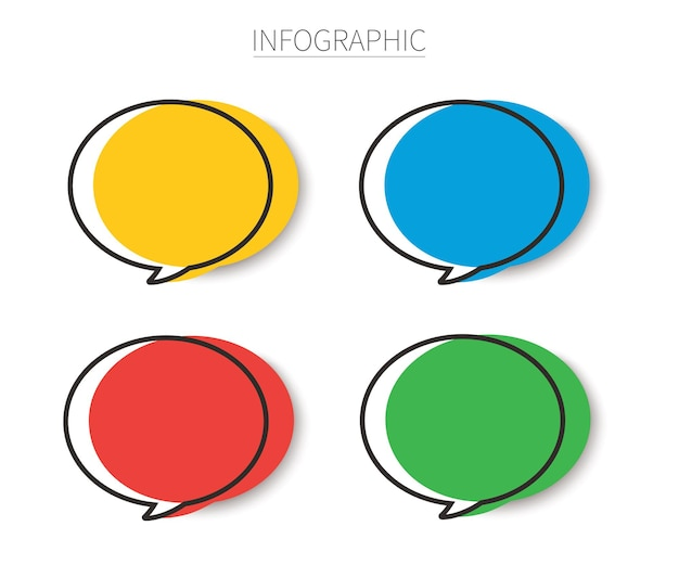 Set of template speech bubble