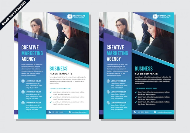 Set of templates for brochure