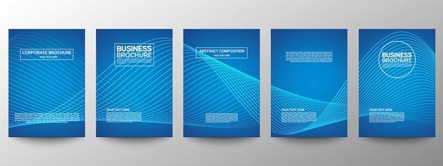 Set of templates of business brochures Premium Vector