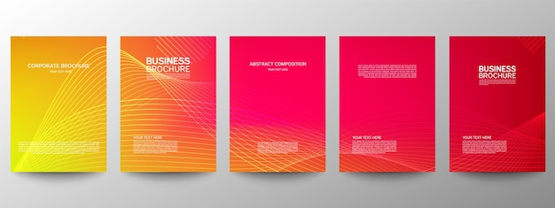 Set of templates of business brochures