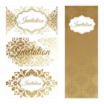 Set of templates for business cards and invitations.