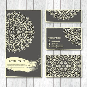 Set of templates business, visiting, greeting cards, brochure  w