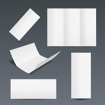 Set of templates for a leaflet brochure or flyer