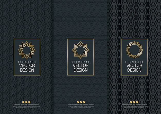 Set of templates packaging.