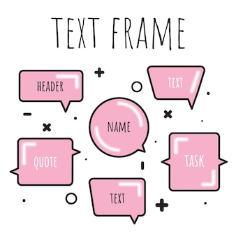 A set of templates for the text in watercolor style.