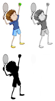 Set of tennis player