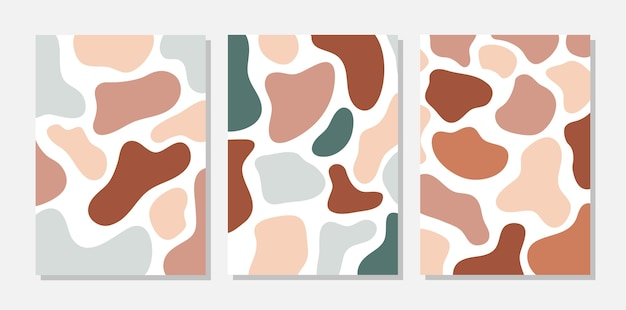 Set of terracotta abstract templates