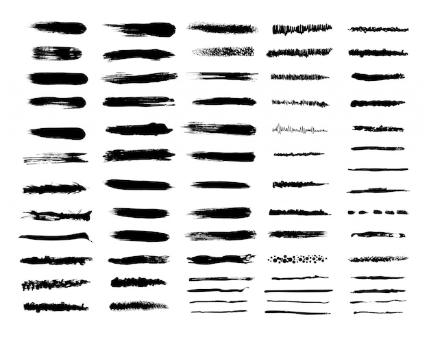 Set of textured brushes
