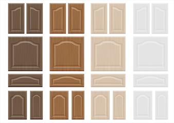 Набор текстур деревянных мебельных фасадов