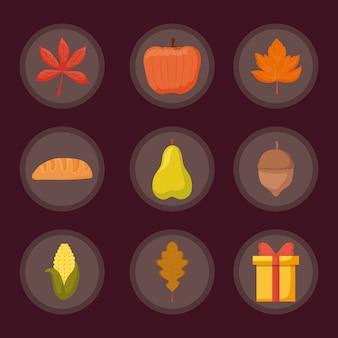 Set of thanksgiving day