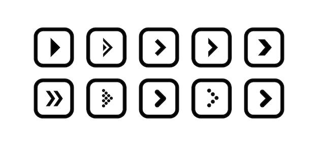 검은색 화살표 아이콘의 벡터를 둥근 사각형 모양으로 설정