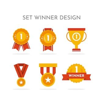 우승자 컬렉션 디자인을 설정합니다.
