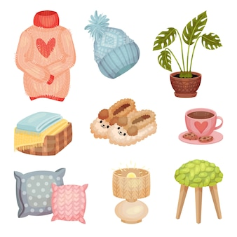 Set of things associated with comfort