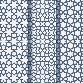 Set of three arabic geometric pattern