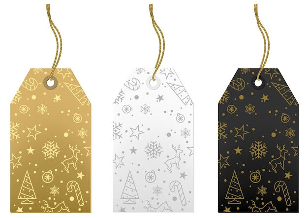 Set of three christmas labels