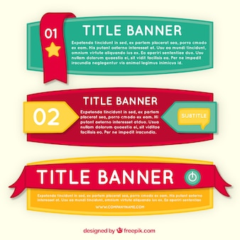 Set of three hand-drawn infographic banners with different designs