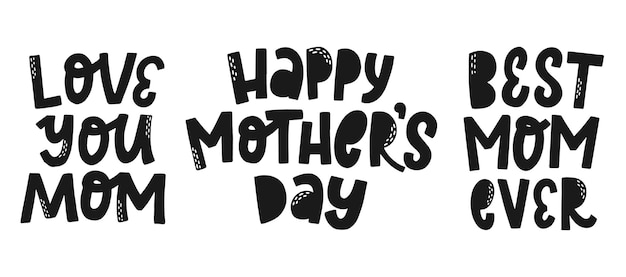 Set of three mothers day quotes