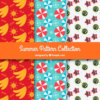 Set of three summer patterns