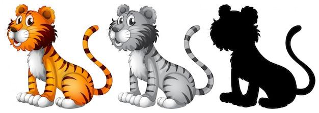 Set of tiger character
