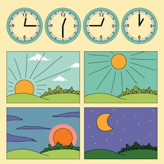 Set of time cycles