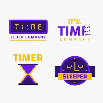 Set di modelli di logo del tempo