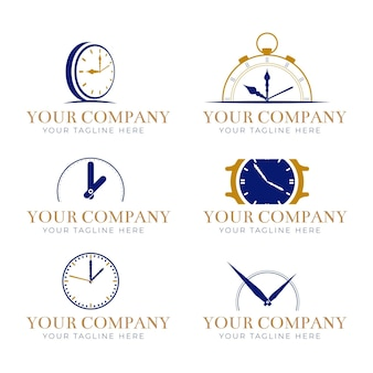 Set of time logo templates