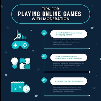 Set of tips for playing online games with moderation