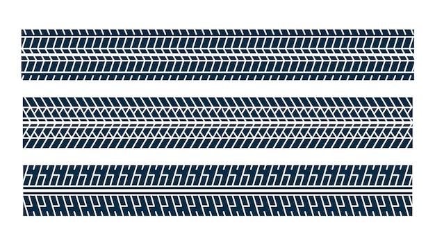 Set di modelli di segni di stampa della traccia del pneumatico