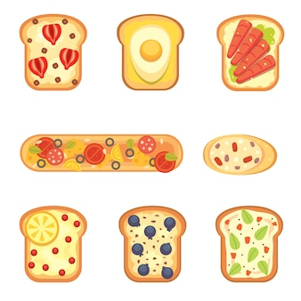トーストとサンドイッチの朝食を設定します。