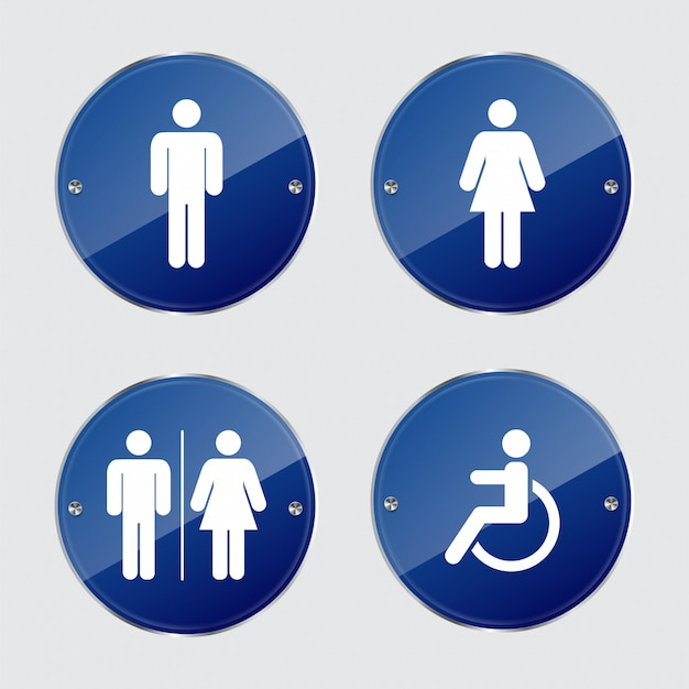 Set toilet signs.