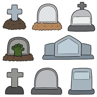Set of tombstone