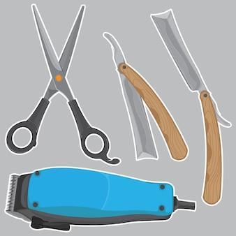 Set tool shaver vector