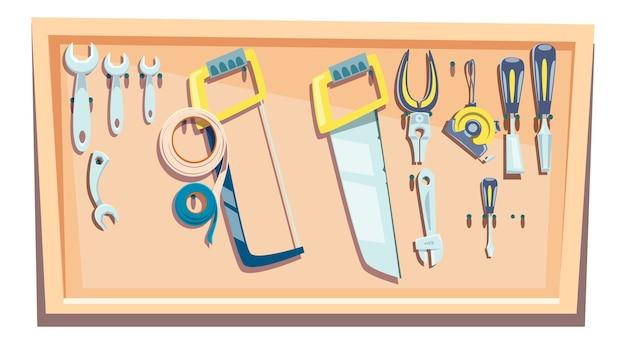 Set of tools for a carpenter