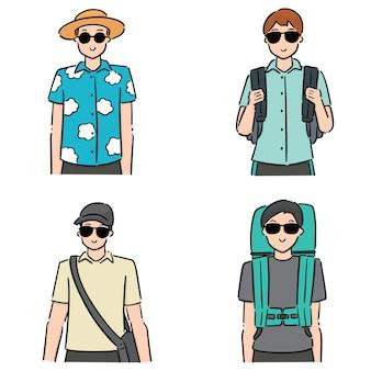 Set of tourist