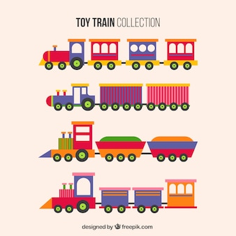 Set of toy trains