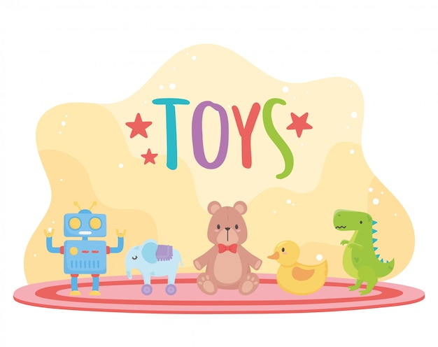 Set of toys for kids