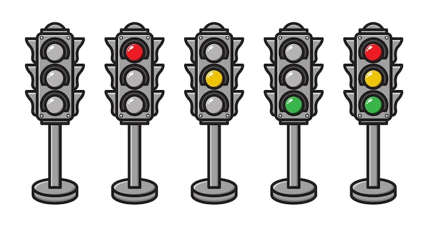 Set of traffic light collection
