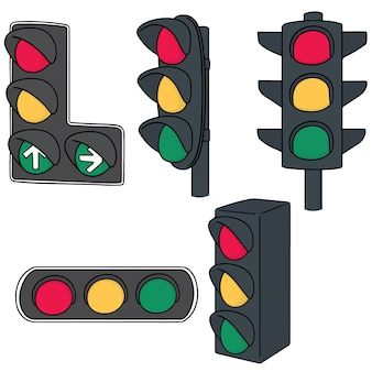 Set of traffic light