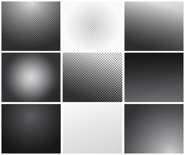 Set of transparency grid