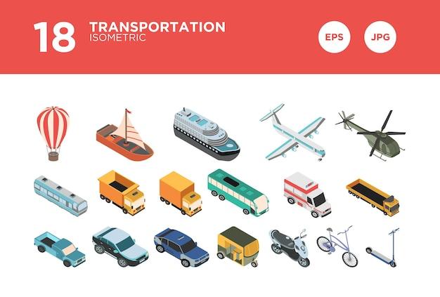 輸送アイソメトリックデザインを設定します