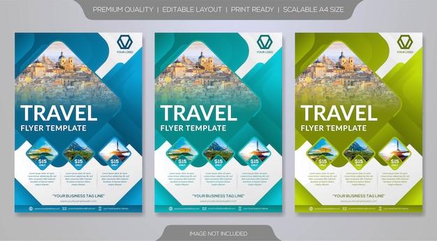 Set of travel brochure