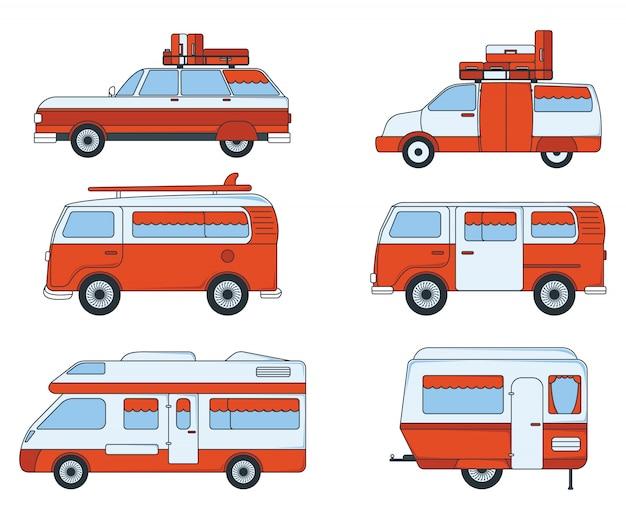 Set of travel car