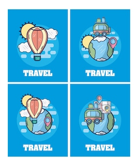 Set of travel cards