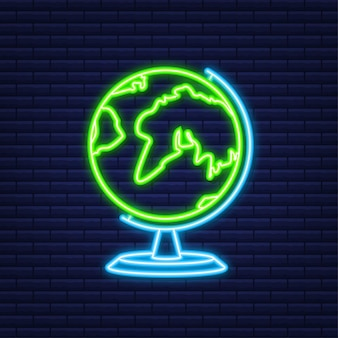 Set travel icon for web design. business icon. neon style. vector illustration.