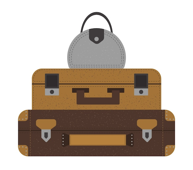 Set of travelers suitcases collection