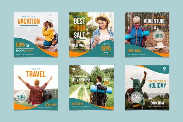 Set of traveling sale posts