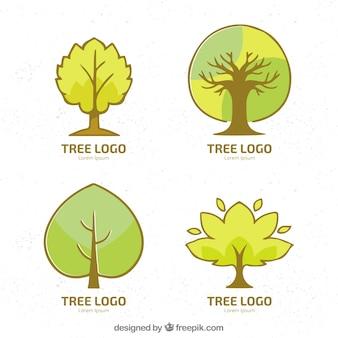 Set of tree logos